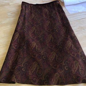 LAUREN Ralph Lauren Paisley Skirt